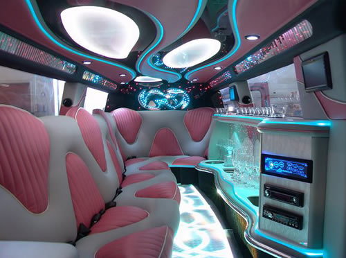 Pink Baby Bentley limo hire