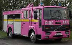 Pink Fire Engine limo hire