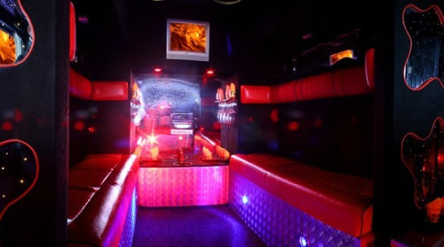 Pink Fire Engine limousine hire