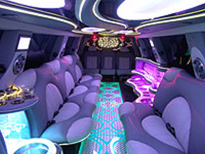 Pink Hummer limo hire