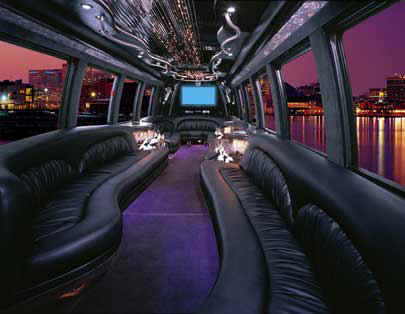 Pink Party Bus limo hire