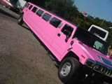 pink hen night limo hire